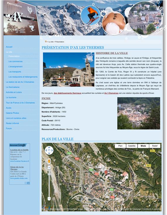 Aper u du site ax les thermes - Axe les thermes office du tourisme ...