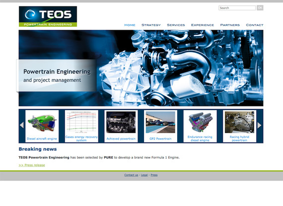 Aperçu du site Teos Engineering